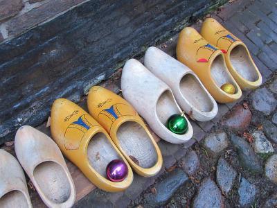 木屐, 木鞋, 鞋类, 圣诞摆设, 行, 街道, 巨石