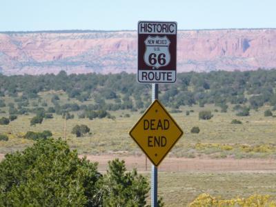 66 号公路, 死胡同沙漠, 山脉, 景观, 风光, 路牌, 标志