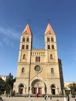 教会, 青岛, 浙江路, 建筑, 大教堂, 塔, 宗教