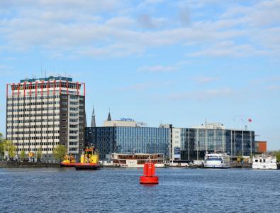 阿姆斯特丹, 城市, 荷兰, 河 ij, 中心, 水, 房屋