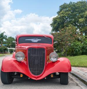热棒, 汽车, 古董, 红色, 经典, 肌肉, 运输