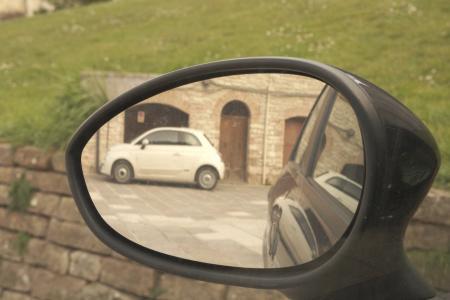 菲亚特500, 自动, 镜子, 机器, 500, 菲亚特