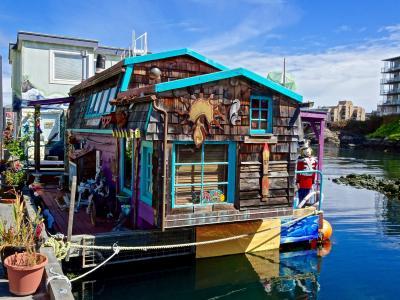 船屋, 维多利亚, 房子, 水, 运河, 建设, 容器