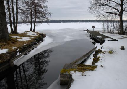 冬天, 我们的冬天, 水, 湖, 象是, snäcke, 雪