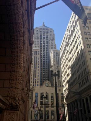芝加哥, 建筑, 摩天大楼, 市中心, 仲, 贸易委员会, 城市景观