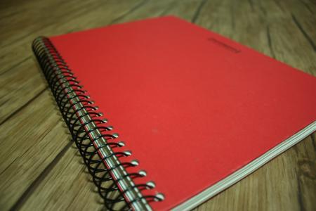 手册, 备注, 红色, 书