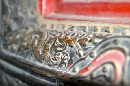 饰品, 艺术, 中国, 立面, 多彩, 绘画, 建设