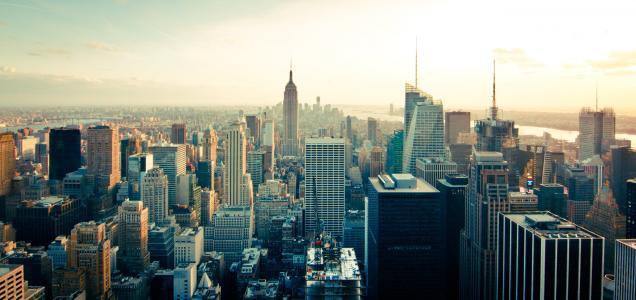 曼哈顿, 城市景观, 天际线, 城市, 城市, 建筑, 摩天大楼