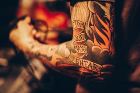 手臂, 艺术, 特写, 男子, 纹身
