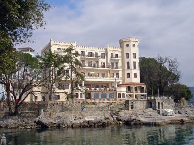 酒店, 克罗地亚, 美丽华酒店, 过去, 欧洲, 奥帕蒂亚, 里维埃拉