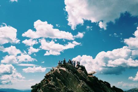 山顶, 山顶上, 返回页首, 小山, 山, 徒步旅行者, 博尔顿