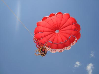降落伞, 孩子们, 乐趣, 云计算, 天空, 快乐, 儿童