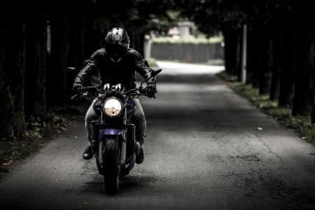 骑自行车的人, 摩托车, 骑, 车辆, 摩托车, 道路, 旅行
