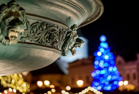 散景, 圣诞装饰, 浅蓝色, 黄色, 圣诞树, 雕像