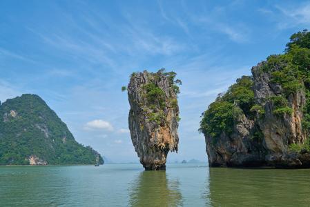 攀牙湾, 普吉岛省, 詹姆斯 · 邦德岛, 泰国, 岛屿, 安达曼海亚洲, 海滩