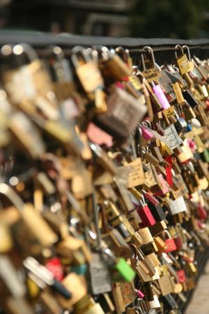 桥梁, 爱挂锁, 巴黎, 挂锁, 爱, 锁, 浪漫