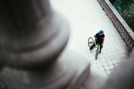 自行车从上面