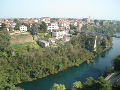 adda, 河, 桥梁, 水, 绿色, 植被, 国家