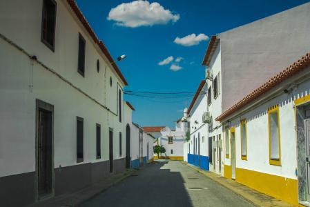 街道, 房屋, 葡萄牙, 建筑