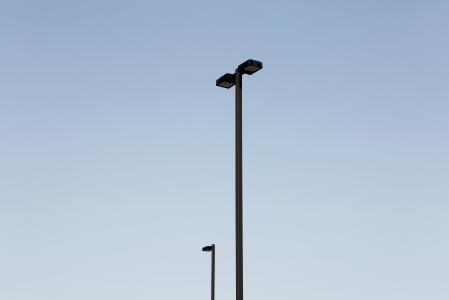 黑色, 光, 发布, 白天, 灯柱, 蓝色, 天空