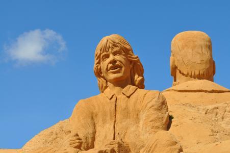 沙雕, 沙子, 雕塑, 艺术, 雕像, 葡萄牙, 节日