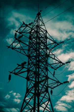 电线杆, 电源线, 电线, 电力