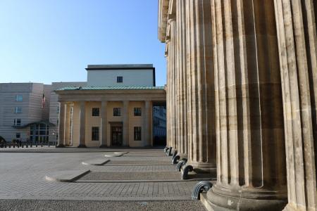 勃兰登堡州, 目标, 柏林, 建筑, quadriga, 具有里程碑意义, 纵栏式