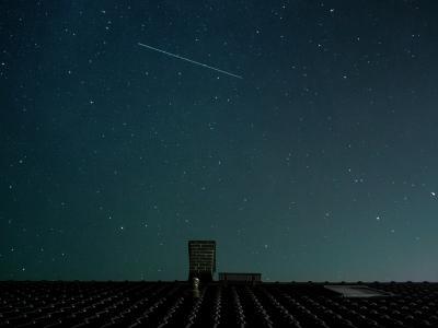 宇宙, 房子, 银河, 晚上, 屋顶, 天空, 空间