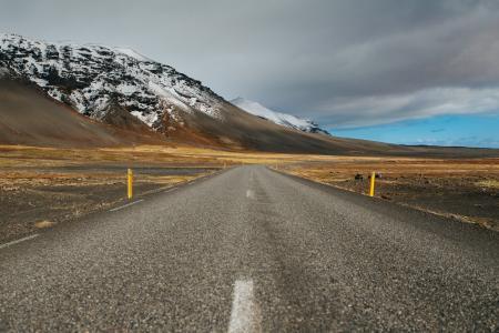 道路, 山脉, 旅行, 目的地, 方式, 方向, 旅程