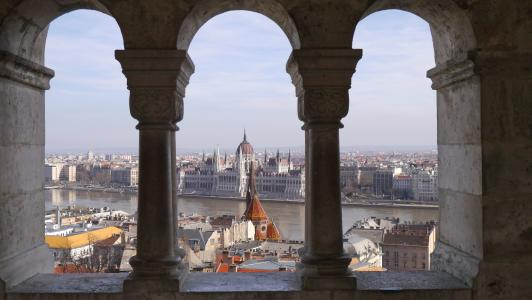 花葶, 布达佩斯, 议会, 著名的地方, 建筑, 城市景观, 欧洲
