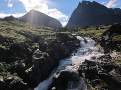 山脉, 溪, 景观, 自然, 流, 水, 岩石