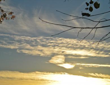 云计算, 心, 汉密尔, 日落