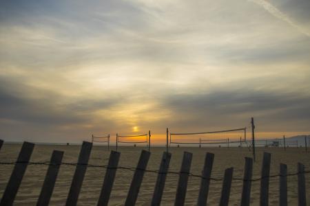 沙滩排球场