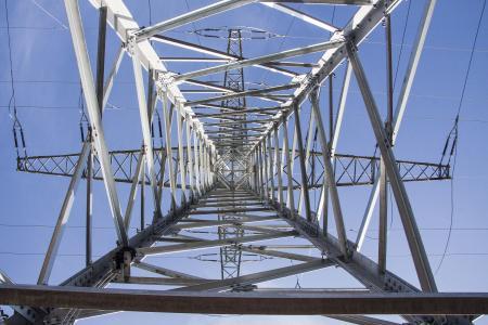 strommast, 电源, 电源线, 塔, 新增功能, 当前, 电缆