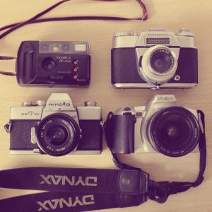 照相机, 美能达, voigtlander, yashica, 赶时髦的人, 模拟, 相机