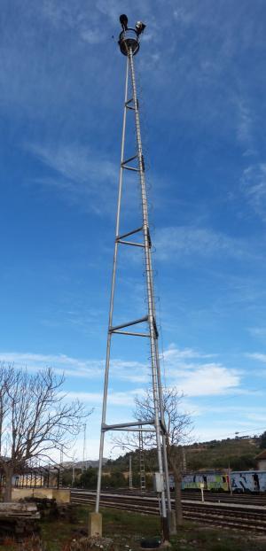 照明塔, 反射器, 金属塔, 铁路