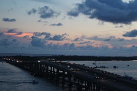 德斯廷, 佛罗里达州, 美国, 汽车, 交通, 桥梁, 公路