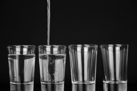 眼镜, 水, 浇注, 饮料, 新鲜, 液体, 全