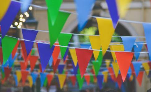 鹀, 嘉年华, 多彩, 色彩缤纷, 装饰品, 挂