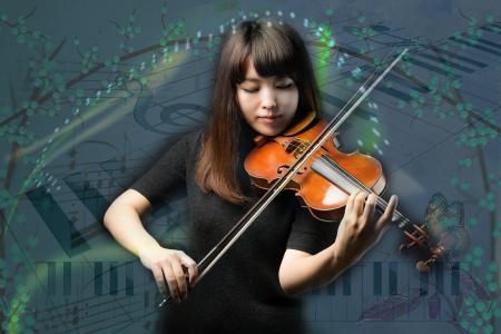 音乐, 小提琴, 妇女, 润饰, 注意, 乐器, 音乐家