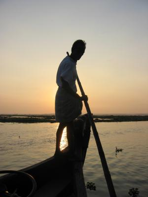 男子划船, 旅行, 小船, 容器, 水, 人, 河