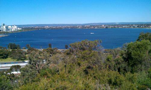 天鹅河, 珀斯, 西方, 澳大利亚, 海, 海岸线