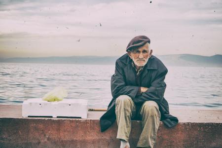模拟胶片, 老样子, 老, 照片, 男子, 老人, 街道