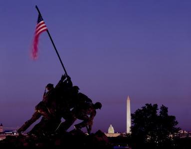 纪念, 战争, 硫磺岛, 具有里程碑意义, 纪念碑, 士兵, 纪念