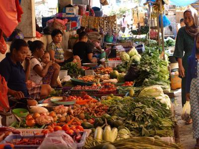 印度尼西亚, 亚洲, 市场, 街头一幕