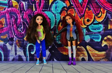女孩, 朋友, 友谊, graffity 在一起, 女朋友, 女朋友, 娃娃