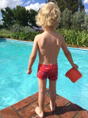 夏季, 游泳池, 儿童, 假日
