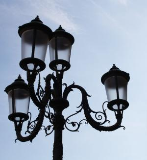 灯柱, 光, 照明, 城市, 天空, 道路, 灯