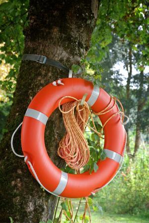 系上安全带, 戒指, 救援, 游泳圈, 不, 安全, 红色