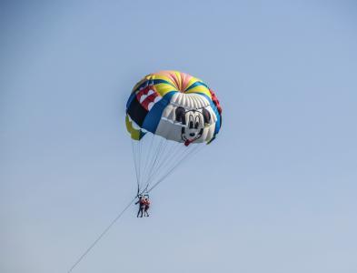 滑翔伞, 肾上腺素, 降落伞, 冒险, 微笑, 乐趣, 天空